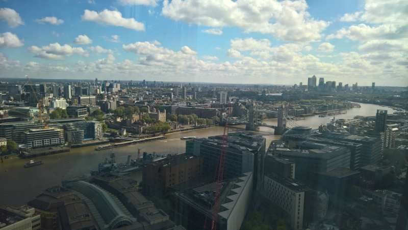 View from 31st floor of The Shard