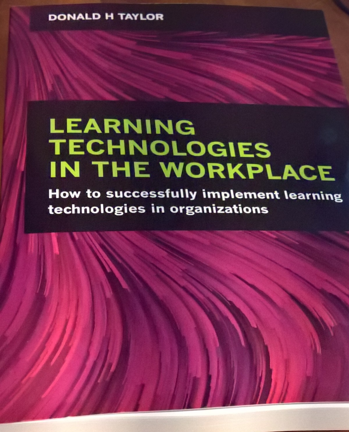 Learning Technologies book from Donald H Taylor